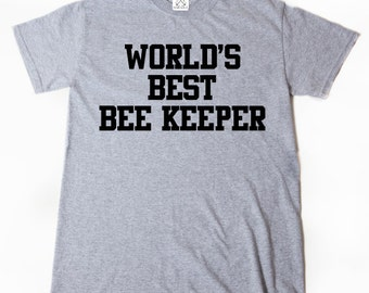 World's Bee Keeper T-shirt Funny Bees Beekeeper Apiary Bee Lover Shirt
