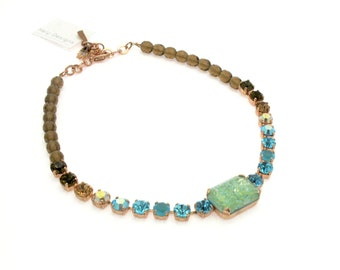 Statement Necklace Bridal Necklace For Women Wedding Necklace Turquoise Necklace Beaded Necklace Classic Necklace Swarovski Necklace