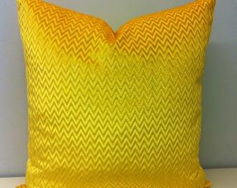 Yellow Velvet Pillow, Yellow Chevron Pillows, Velvet Cushion Covers, Yellow Throw Pillows, Yellow Couch Sofa Pillow, Velvet Pillow Covers