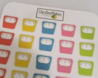 Rainbow Weight Scales Stickers