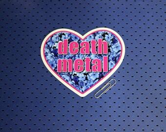 Death Metal Heart Sticker