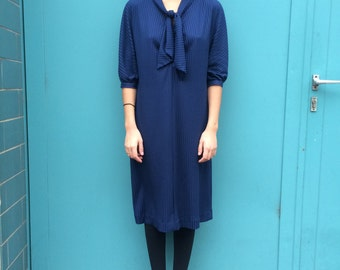 Vintage 80s Casual Dress in Blue Size*XS to M