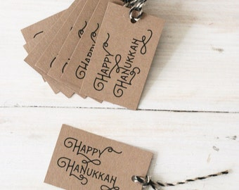 Hanukkah Gift Tags, Set of 8