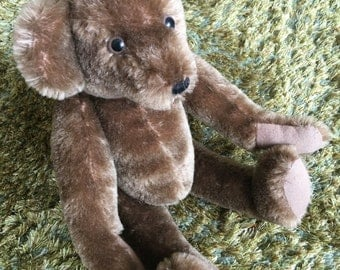 Vintage Brown 1960s Teddy Bear - Soft and Cuddly