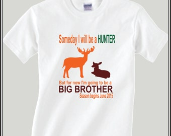 Personalized Hunting Big Brother Shirt Birth Announcement Shirt