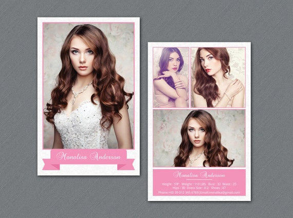Modeling comp card template model comp card photoshop for Free model comp card template psd