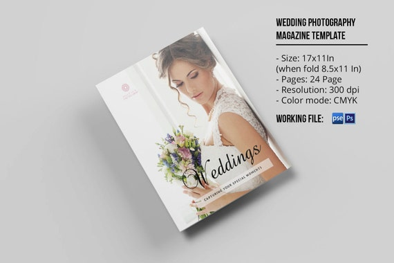 Wedding magazine template for photographers photo studio for Wedding photography magazine template