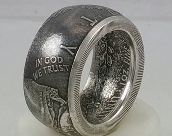 Items Similar To 90 Silver Custom Coin Ring On Etsy