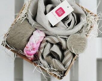 Beauty linen towel set, linen bath towel, linen massage towel, linen face towel, linen spa towel, linen sauna towel, linen gift box