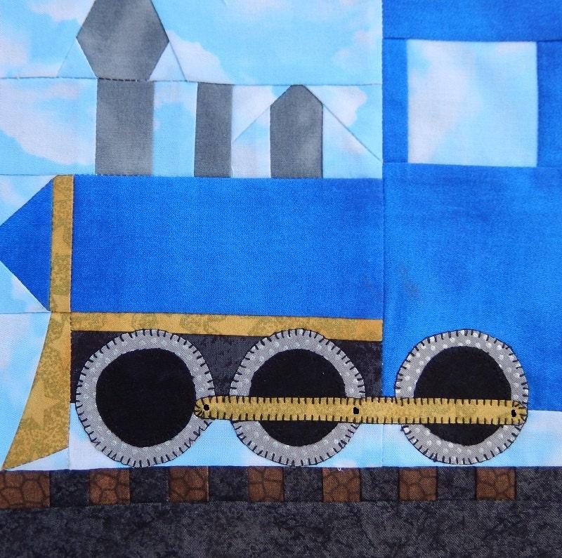 Steam Train Engine Paper Pieced Pdf Quilt Pattern Baby