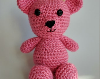 Teddy bear Pink/Bear crochet