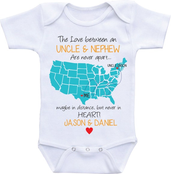 Personalized country state map uncle onesies uncle and like this item negle Choice Image