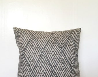 Black and Gray/Brown Geometric Pillow Cover 20x20""