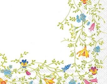Floral NAPKINS, Spring Floral Napkins, Garden Party Napkins, Floral Napkins, Flowers Napkins, Floral Vines Napkins, All Occasion Napkins