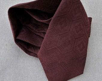 Handmade necktie made from Japanese Kimono material ('Clean-skin' stlye)