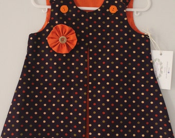Spotted Corduroy Pinafore