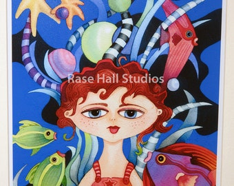 Art Print, Framed Art Print, Whimsical Art, Giclee Print, Fantasy Art, Rase Hall