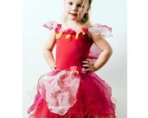 Fairy Dress | Fairy Costume | Princess Dress | Party Dress | Girls Dress - Pretty Fairy Dress with Wings / Red