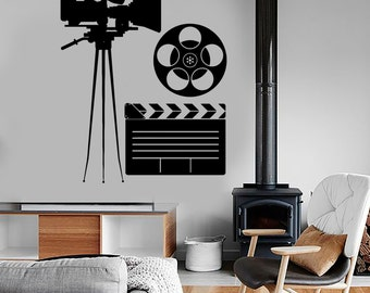 Wall Vinyl Decal Movie Making Film Camera Actress Cool Amazing Decor 1356dz
