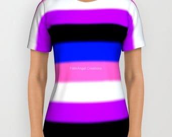 Genderfluid Pride Flag v2 T-Shirt, Multiple Sizes Available!