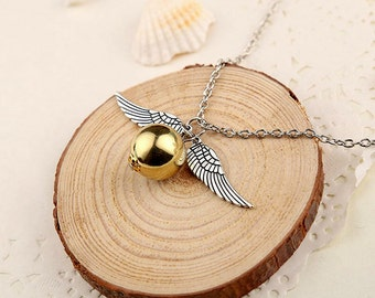 Harry Potter The Snitch Quidditch Simple Dainty Necklace Silver