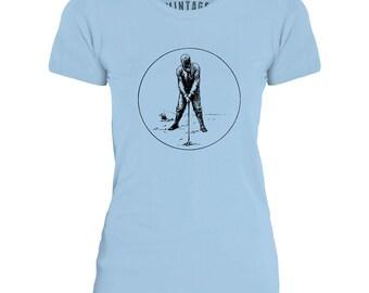 Mintage Golf Icon Womens Fine Jersey T-Shirt