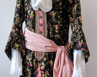 18th century floral frock coat