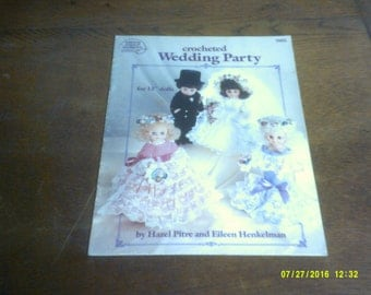 "Crocheted Wedding Party by Hazel Pitre and Eileen Henkelman  (for 13"" dolls)"