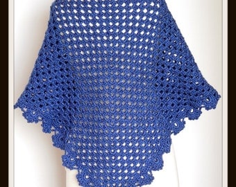 Crochet PATTERN - Shawl, Quick and Easy 3 Skein Project - Instant Download