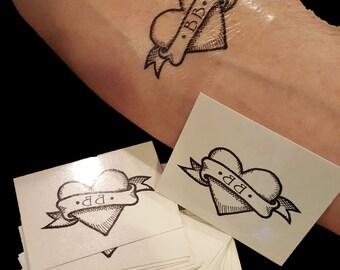 BB Easton Temporary Tattoo Heart