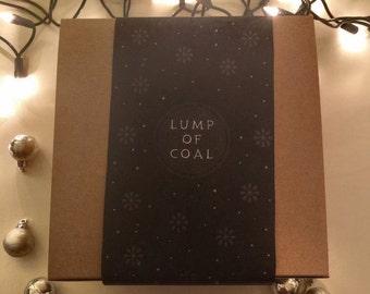 Lump of Coal Christmas Gift Box Sleeve - DIGITAL DOWNLOAD