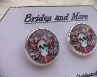 Skull Studs Emo Studs Gothic Earrings Skull Earrings Punk Jewelry Stud or Hanging Emo Earrings Gothic Studs Punk Earrings Halloween Earrings