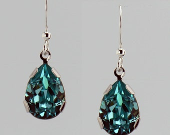 Turquoise Pear Drop Earrings - E2530