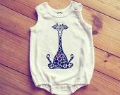 Giraffe Romper, Lotus giraffe baby outfit,...