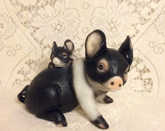 Pig and baby figurine