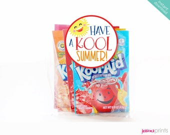 Instant Download Have a Kool Summer Printable Party Circles, School Party Favor Tags, Teacher Treats, Favor Tags, Kool-Aid Party Circles