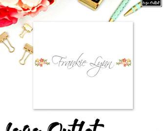 Pretty Floral Premade Logo Design - Includes files for Web and Print! Perfect for Photographer, Interior Designer, Stylist, Blogger + more!