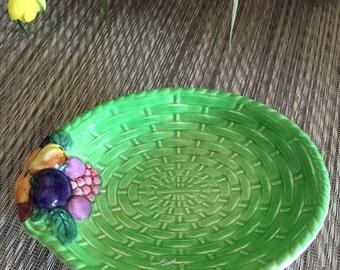 Vintage Carlton Ware Basket Weave with Fruit Dish