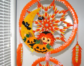 quilling paper art origami dreamcatcher halloween dreamcatcher mobile wall dcor home dcor autumn decoration halloween decorations