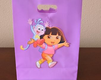 Set of 8 Dora and Boots Goody Bag, Goodie bag, Dora the Explorer, Lavender Goody bag, Party Favors