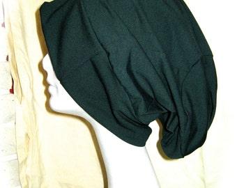 green dread hat, slouch hat, slouchy hat, slouchy beanie, light slouch hat, summer slouch hat, pixie wear, burning man, dread