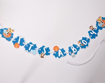 It's a Boy Baby Shower Banner, Baby Boy Shower Decorations,  Jungle Baby Banner, Jungle Baby Shower Banner