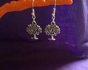 Tree Silver Plated Earrings