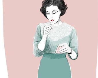 Audrey Horne - Print of Twin peaks character / high quality giclee print
