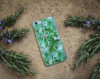 LEAFY PHONE CASE, tropical hard iPhone case