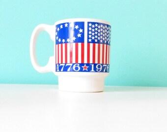Bicentennial Mug // Stacking Mug // 1976 // Vintage Americana