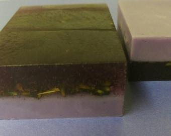 Lavender Layers Soap, Goat Milk Lavender Soap, Lavender Soap