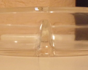 Fire King Clear Divided Dish - 1940s