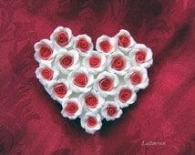 Housewarming gift Fridge magnet flower Kitchen decor Wedding favors Bouquet of roses Bridal decorations Decorative magnet White red rose