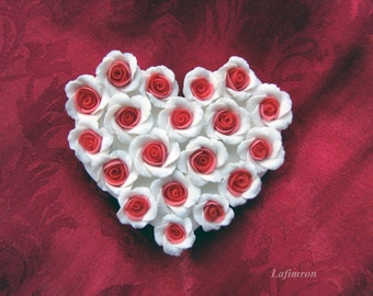 Anniversary gift for women Wife gift For boyfriend Office decor White red gift Heart Romantic gift Love Refrigerator magnet Fridge Cottage
